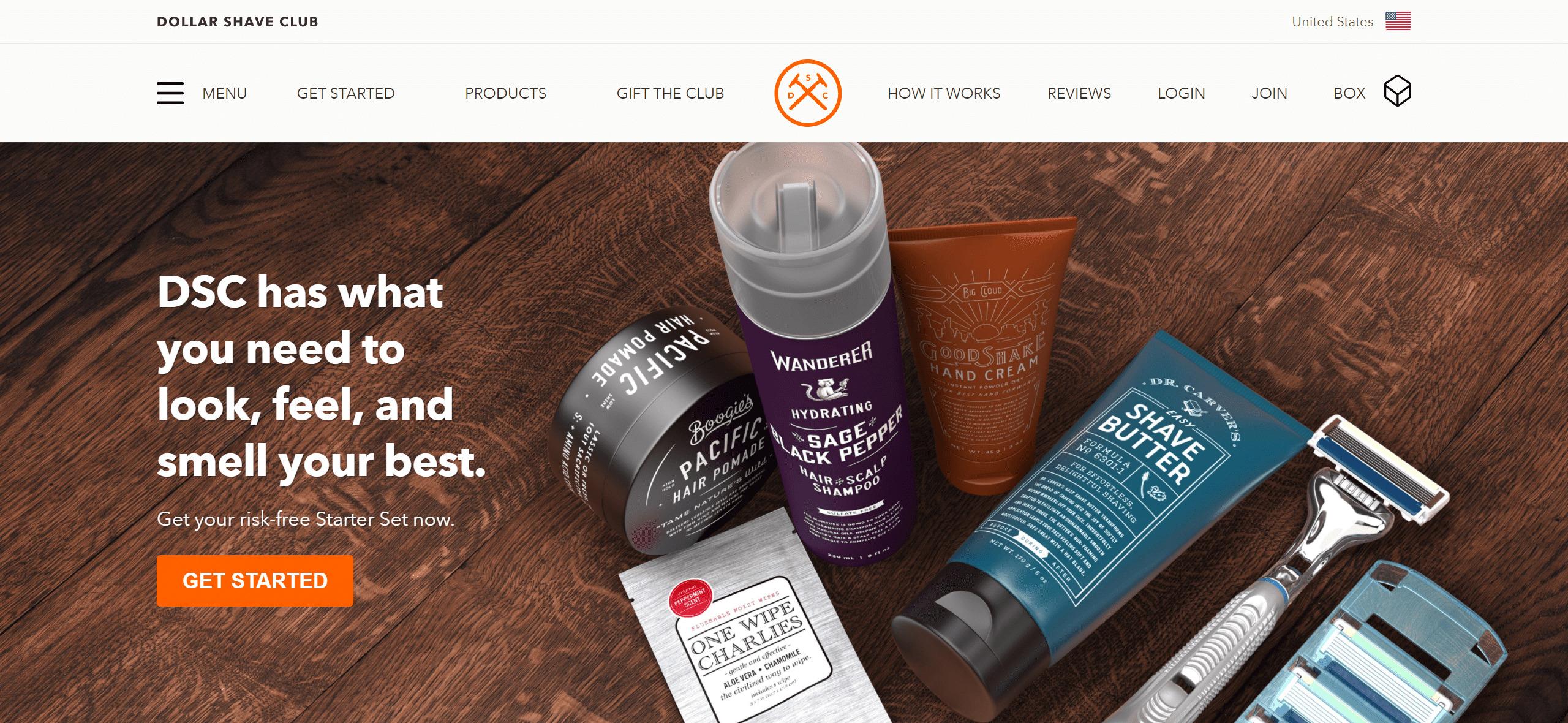 カミソリが定期的に届くサブスクリプション「Dollar Shave Club」
