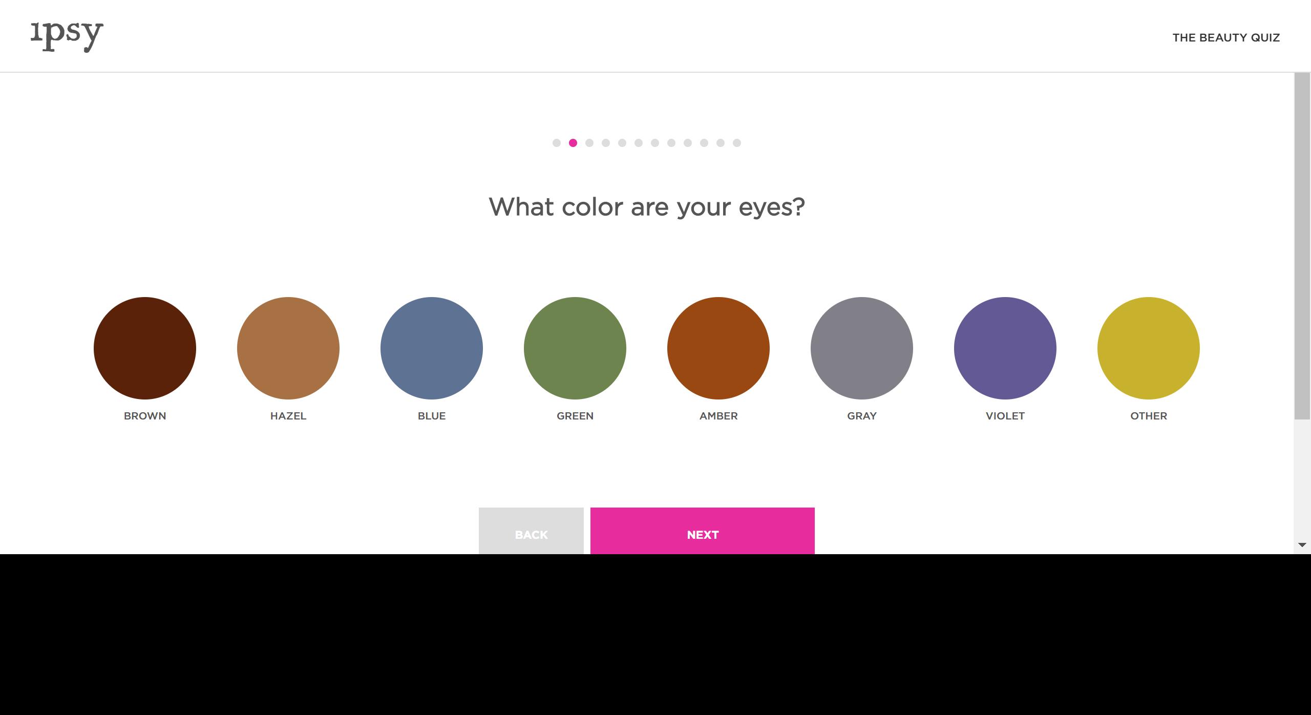 登録前の肌や髪・瞳の色や気になるアイテムの傾向などを細かく入力