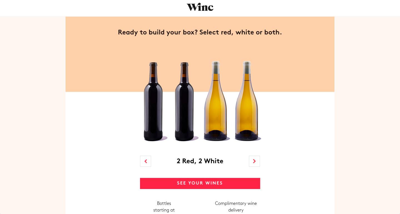 赤ワイン2本・白ワイン2本がオススメされました