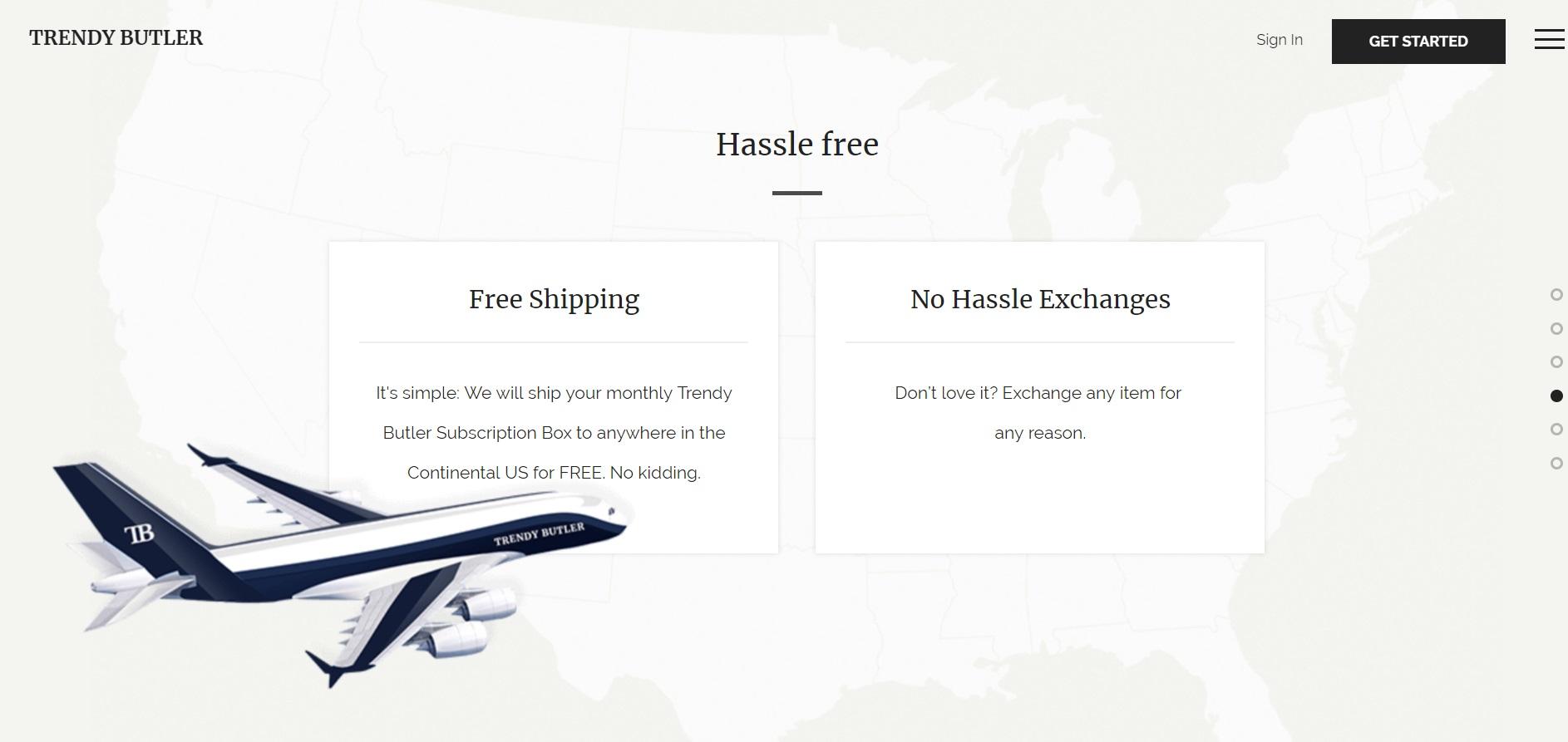 全米どこでも送料無料、届いた商品をいつでも変更できる