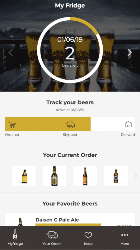 DrinkShiftのスマホ画面